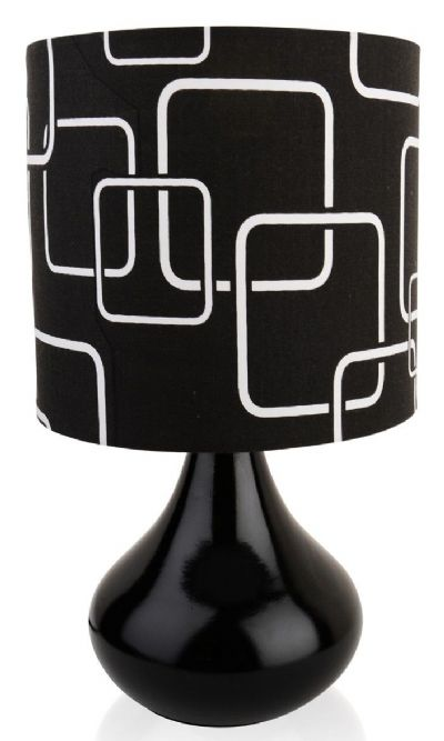 Modern Black Funky Table Lamp  c/w Shade